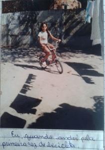 O dia que eu aprendi a pedalar.