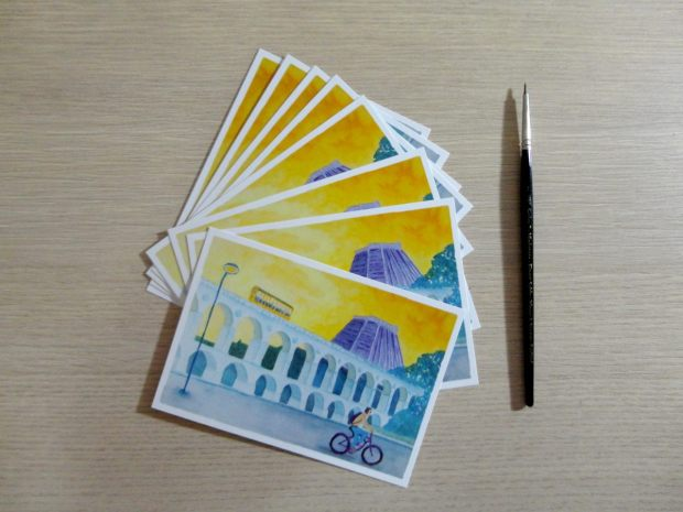 Alguns ciclistas também ganharão lindos postais